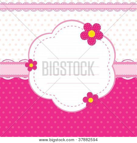 vector background with pink flowers