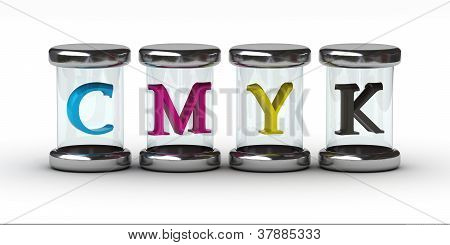 Cmyk In Glass Container
