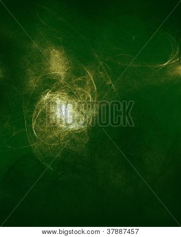 Abstract background with textures with green and a white light