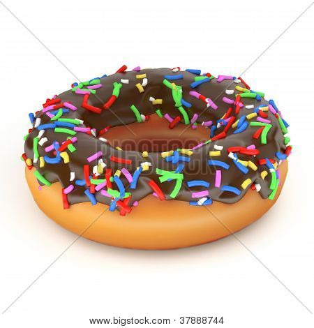 Isolated Chocolate Donut