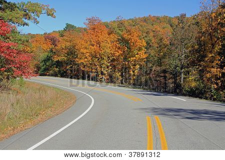 October On Scenic Byway