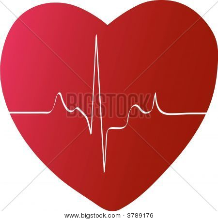 Heart With Heart Rhythm