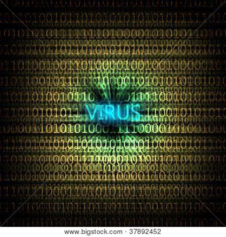 computer virus symbol