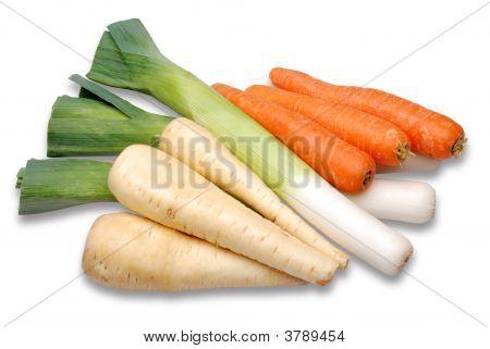 Leeks Parsnips Carrots