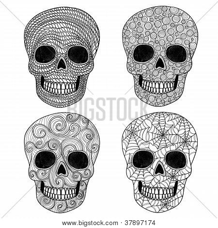 Ornament Skull Set.