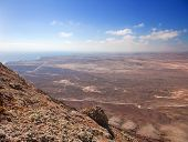 Northern Fuerteventura, View South From Montana Roja (red Mountain)