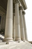 stock photo of magistrate  - columns of courthouse isolated on a white background - JPG