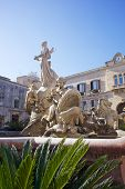 stock photo of artemis  - View of Artemis Fountain in Syracuse - JPG
