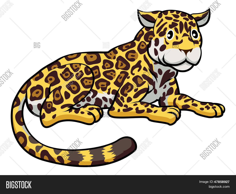 Vector y foto Jaguar Gato De Dibujos Animados  Bigstock