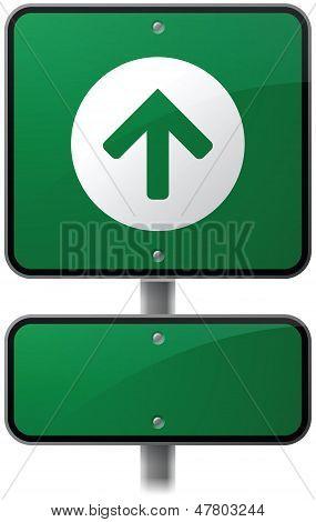 Forward Arrow Sign