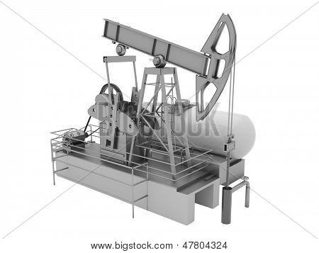 Pumpjack es la unidad sobre el suelo para una bomba de pistón alternativo en un pozo de petróleo