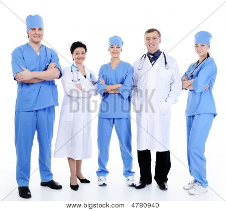 Successful Doctors Standing Together