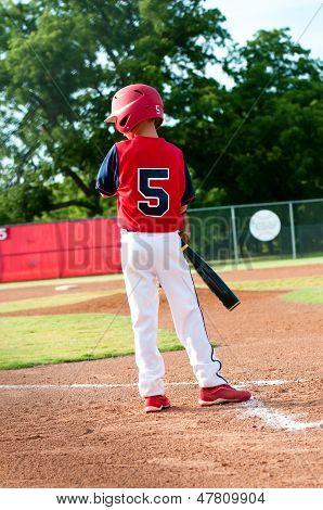 Young Boy Watching The Coach
