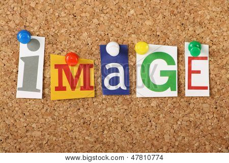 The word Image