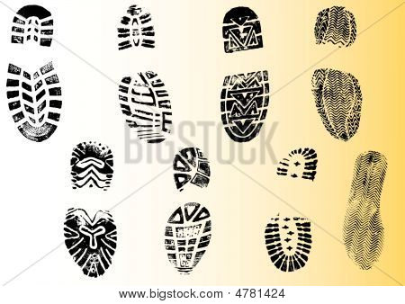 8 Detailed Shoeprints