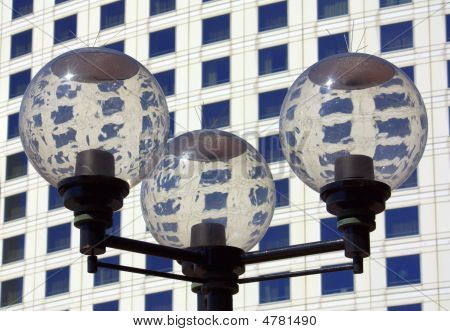 Lamp In Front Of Building