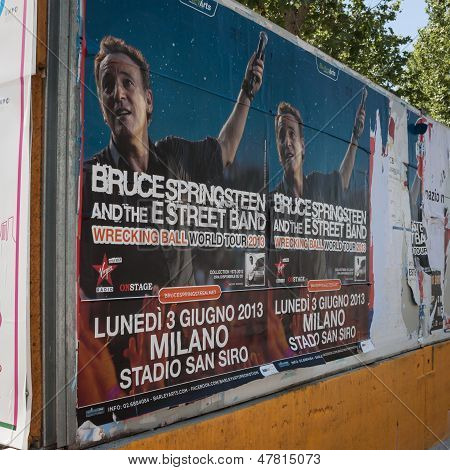 Billboard of Springsteen concert