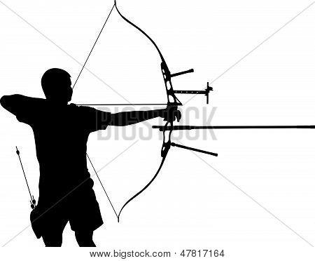 Silhouette of archer