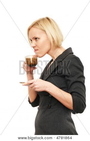 Disgruntled Drink Coffee