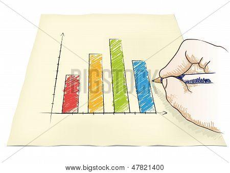 Hand Draws A Graph