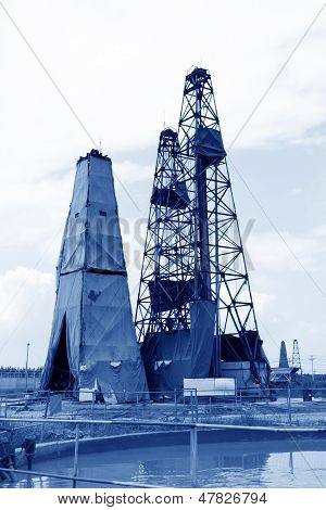 Drilling Derrick In Macheng Iron Mine, Luannan County, Hebei Province, China