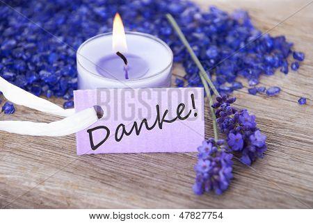 Purple Label With Danke