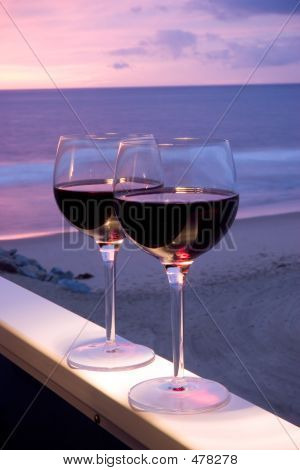 Red Wine Beach Sunset