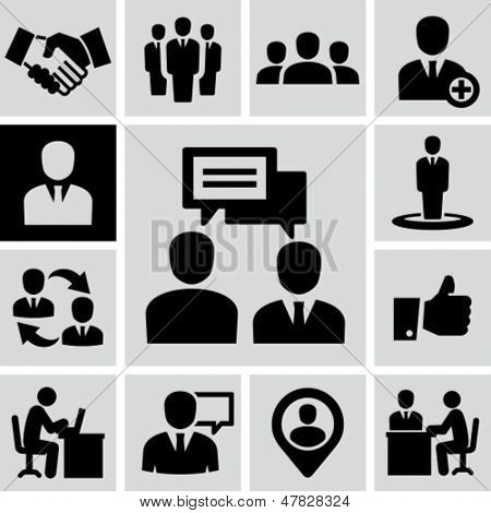 Business people icons.
