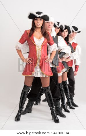 Young Dancers In Pirate Costumes