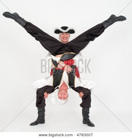 Two Dancer In Pirate Costumes