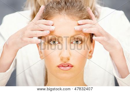 Woman On Head Massage
