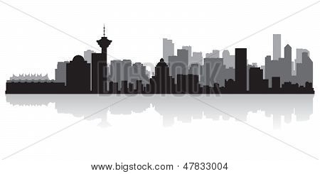 Vancouver Canada City Skyline Vector Silhouette