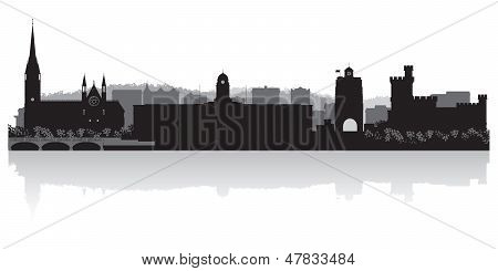 Cork City Skyline Vector Silhouette