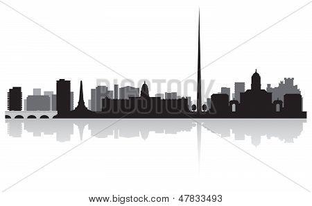 Dublin City Skyline Vector Silhouette