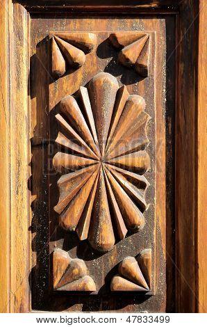 Wooden Sculpture Door