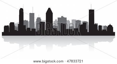 Montreal Canada City Skyline Vector Silhouette