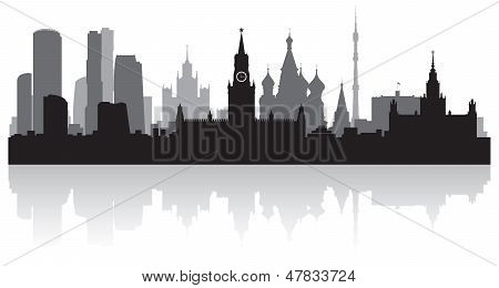 Moscow City Skyline Vector Silhouette