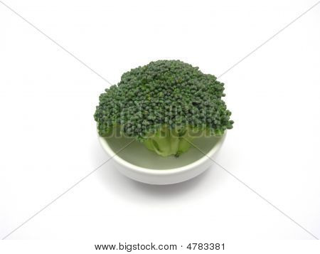 Broccoli In A Little Bowl Of Chinaware