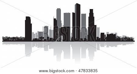 Singapore City Skyline Vector Silhouette