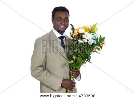 Man With Flowers