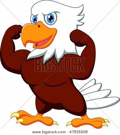 Vectores y fotos en stock de Águila lindo dibujos animados posando ...