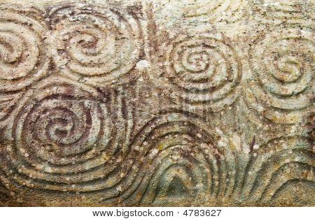 Pagan Triple Spiral At Newgrange, Ireland