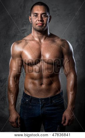Muscular Handsome Young Man