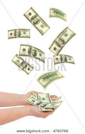 Hand And Falling Money