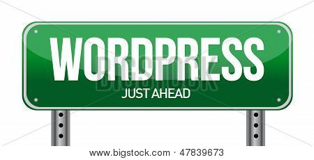 Wordpress Road Sign Illustration