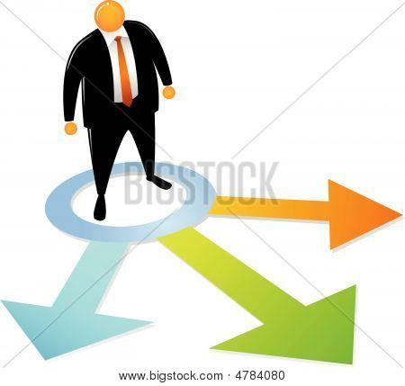 Orange Head Choosing Direction