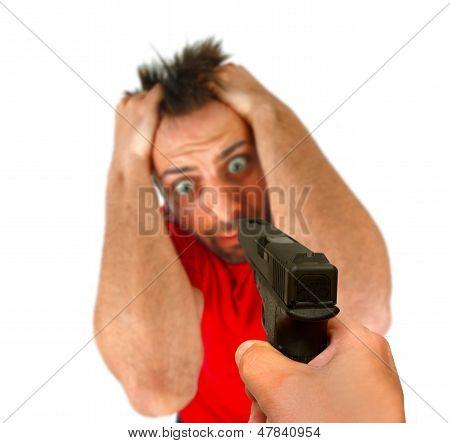 Man Threatened With A Gun