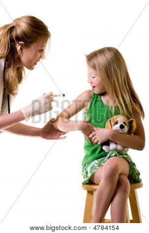 Child Getting A Vaccine
