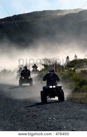 Atv Ride In Morning