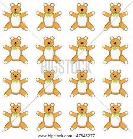 Medium Sized Skin Tone Teddy Bear Pattern